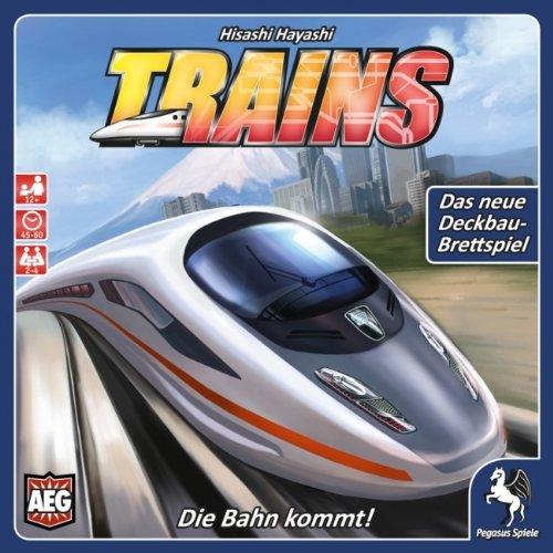 Pegasus Spiele 51055G - Trains - Die Bahn kommt Brettspiele