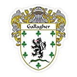 Okumahome 3 PCs Stickers Gallagher Coat of Arms Family Crest 3×4 Inch Die-Cut Wall Decals for Laptop Window Car Bumper Helmet Water Bottle