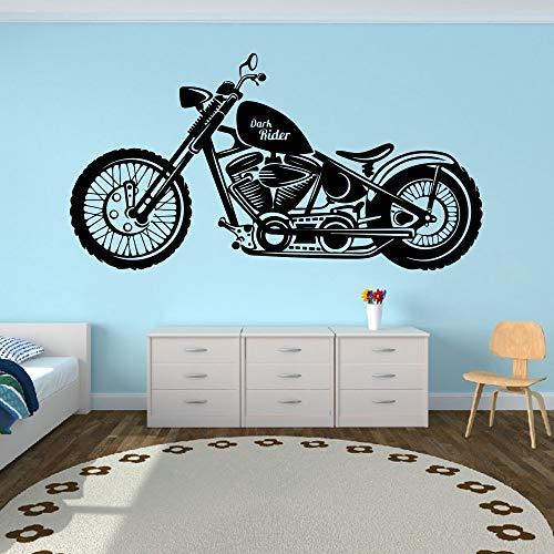 Tianpengyuanshuai Gran Dark Rider Motocicleta Motor Pared calcomanía Etiqueta de la Pared Garaje niño decoración del hogar -100x54cm