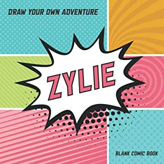 scheda zylie: draw your own adventure, blank comic book