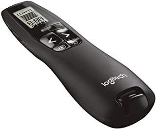Logitech Professional Presenter R800, Wireless Presentation Clicker Remote with Green..