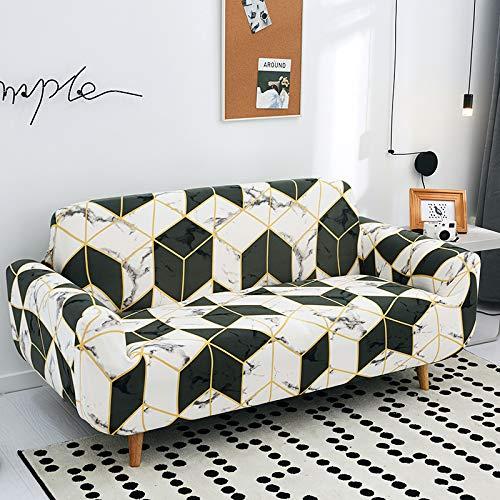 SSHHJ Modern Light Luxury Geometric Lattice Sofa Cover, Non-Slip, Anti-Wrinkle And Anti-Pet Scratch Sofa Cushion, All-Inclusive Four-Season General Household Restaurant Hotel Sofa Chair Cover