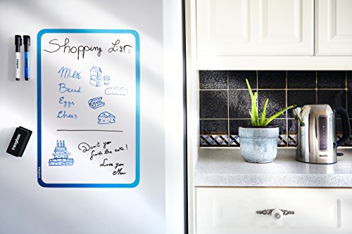 "Dry Erase Magnetic Whiteboard for Fridge by Magbox - 11"" x 17"" Sheet. Magnet Board Daily Planner. Ideal for Reminders, Messages and Kids Drawing. Eraser and Markers Included. Photo #5"