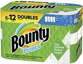 Bounty Select-A-Size Paper Towels, Print, 6 Double Rolls = 12 Regular Rolls