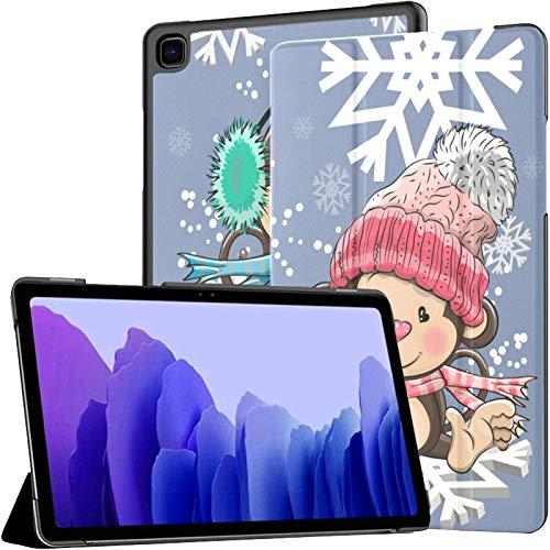 Funda para Samsung A7 2020 Two Cute Monkeys Flying On Snowflakes Fit Samsung Galaxy Tab A7 10.4 Inch 2020 Compatible con Galaxy A7 Funda Funda Tablet Funda de Cuero PU