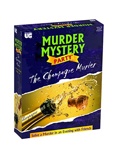 Murder Mystery Party Games, The Champagne Murder, A Murder Mystery Role Play Game for 6 to 8 Players Ages 18 and Up, University Games