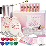 CHAMBERY Candle Making Kit, 87 Piece Full Candle Making Kit for Adults, Kids, Teens and Beginners, Including, 2lb Soy Wax, 6 Scents, 8 Type Dye Wax, 6 Glass Jars, Wicks, Melting Pitcher and More