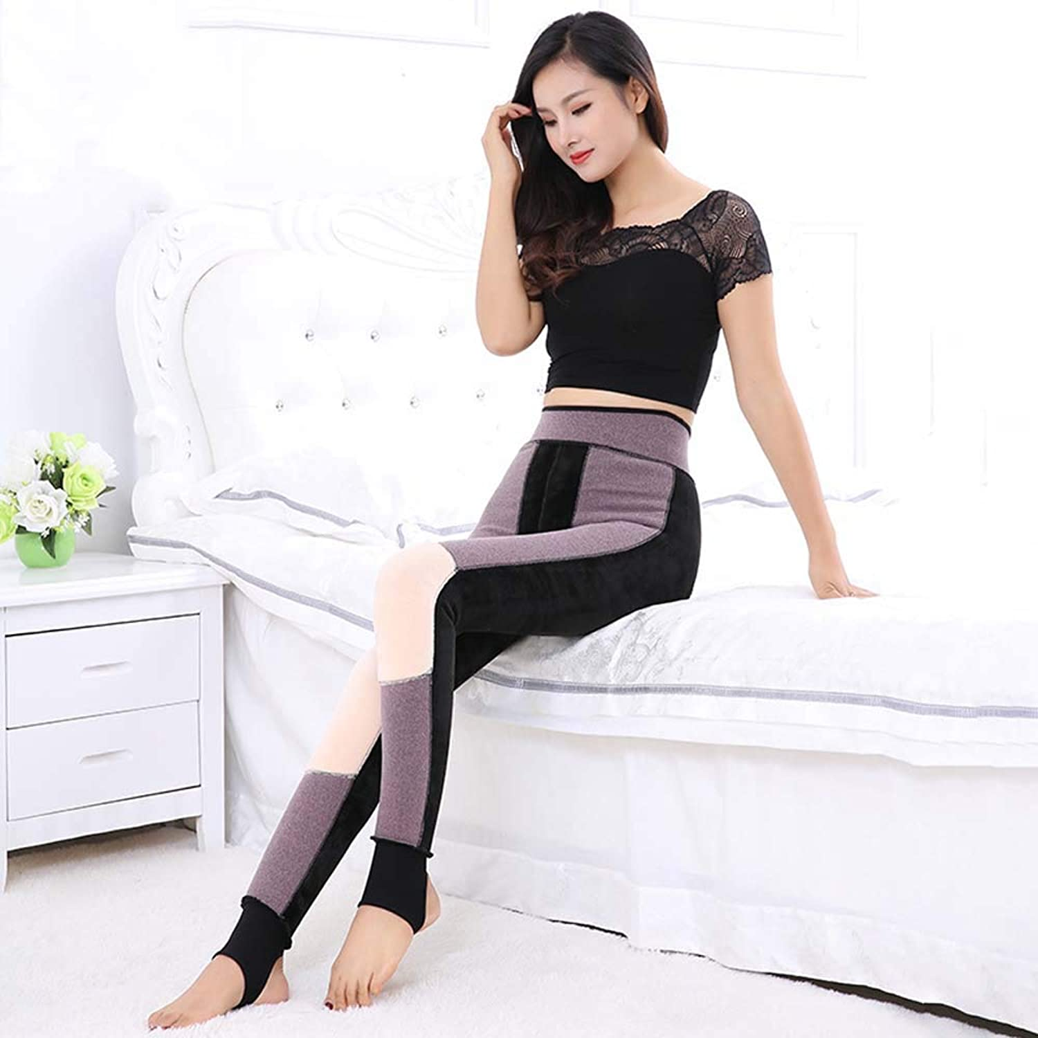 OnePiece Pants Leggings Autumn and Winter Thickening Plus Velvet Windproof Warm Palace Warm Pants