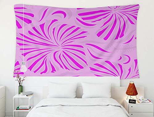 Tapiz de Pared Colgante, Amor, Tapiz, tapices para el hogar y el Dormitorio D & Eacute; Cor Patrón Floral Universal Creativo en Rosa Magenta y Colores neutros Patrón sin Costuras de Hibisco FL