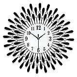 reloj de pared Relojes de pared de cuarzo operados por batería Silent Tick-Free Wall Reloj de pared Números Reloj de la sala de estar de la cocina Reloj de oficina Decoraciones para el hogar