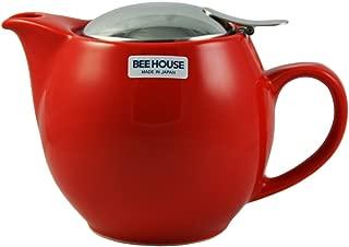 Bee House Ceramic Round Teapot - Tomato Red