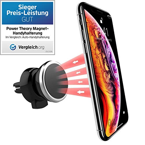Preisvergleich Produktbild Power Theory Magnet Handyhalter fürs Auto - Handyhalterung Auto Lüftung Handy Halter für iPhone 11 Pro XS X XR 8 7 6s SE Samsung S20 S10 S9 S8 S7 Smartphone Halterung Universal Autohalterung