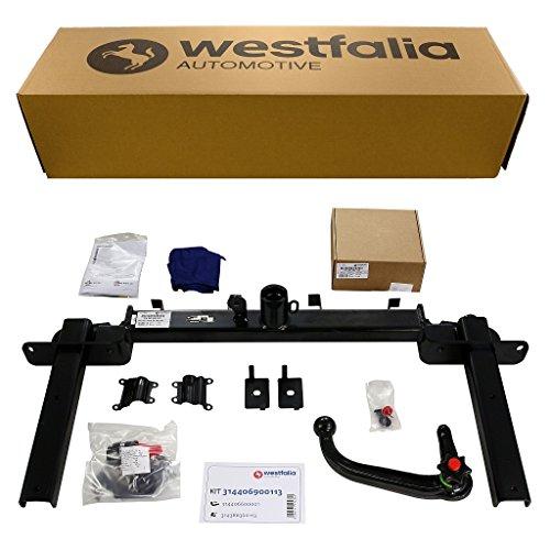 Westfalia abnehmbare Anhängerkupplung für Opel Astra J Sports Tourer (BJ 11/2010 - 01/2016) im Set mit 13-poligem fahrzeugspezifischen Westfalia Elektrosatz