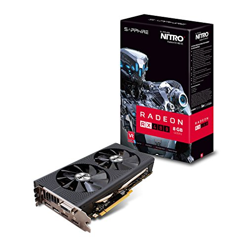 Sapphire 11260-01-20G RX480 Grafikkarte 8GB schwarz