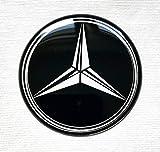 LogoEmbl Aufkleber 4 x 56mm kompatibel mit MercedesBenz radkappen nabenkappen nabendeckel Silikon