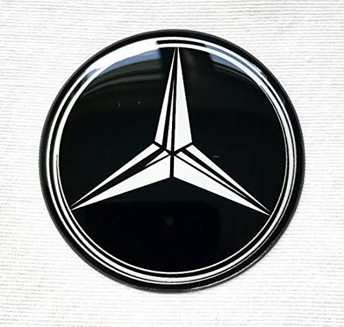 Rad Mitte Aufkleber 4 x 55mm MercedesBenz Logo für Radkappen Embleme Mittelkappen 3D MB
