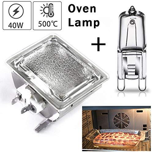 Ablerfly 40w G9 Ofenlampe Mit Lampenfassung, Langlebige Ersatzlampe Mikrowellen-Glühbirne, 500 ° Hitzetolerante Glühbirne