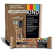 KIND Bar, Madagascar Vanilla Almond, Gluten Free, Low Sugar, 1.4oz ,  12 Count