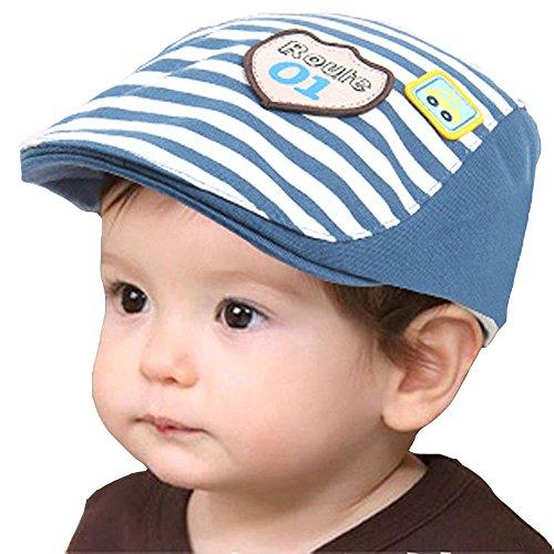Demarkt Baby Kinder Kids Süß Sweet Frühling Herbst Baumwolle Berets Baskenmütze Schirmmütze Hüte Mütze Kappe Hut Cap (Dunkel Blau)