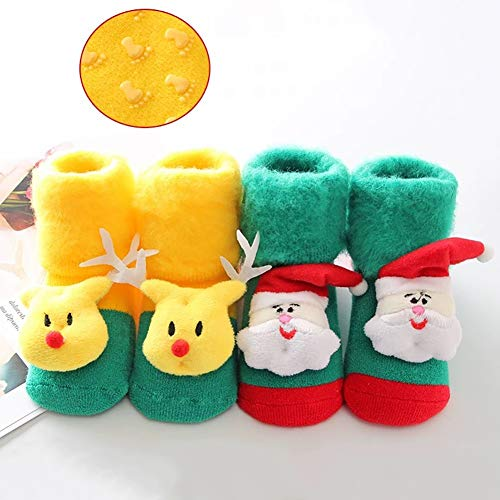Lustige Weihnachtssocken, Crazy Christmas Socken for Baby-Kind (Farbe : Mix 01, Größe : 0-18 Months)