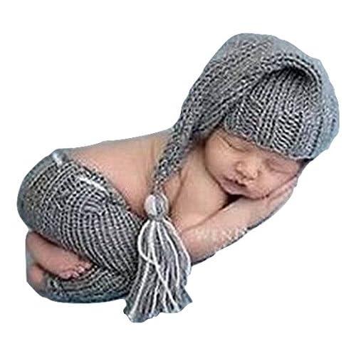 per neonato. Binlunnu Costume per servizi fotografici realizzato all/'uncinetto con cappellino