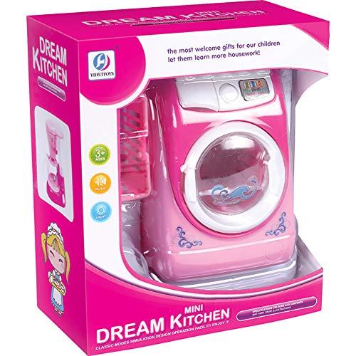 Forart Waschmaschine Spielzeug Baby House Miniatur Wäschespiel Mini Mini Rollenspiel Spielzeug Mini Simulation Puppenhaus Kindermöbel