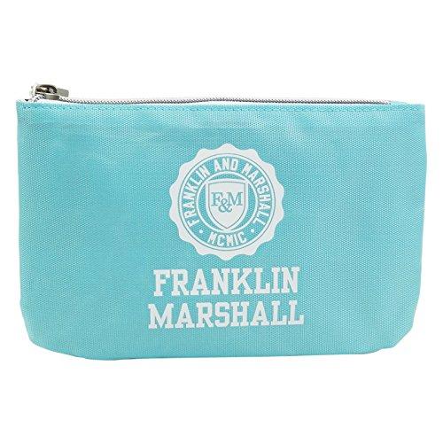 Franklin Marshall tas met powerbank-etui, pennenetui, lichtblauw