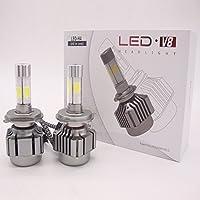 H4 LED ヘッドライト 車検対応 160W 16000LM 6000k ホワイト 4面のLEDばかりの電球 一体型 角度調整機能付き ハロゲンフィラメント 2年保証