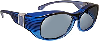 f045b599d1 Haven Designer Fitover Sunglasses Sunset in Sapphire with Smoke Leather    Polarized Grey Lens (LARGE
