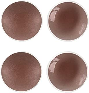Pairs Brown Dark Skin Tone Breast Petals Nipple Covers Reusable Adhesive Silicone Pasties