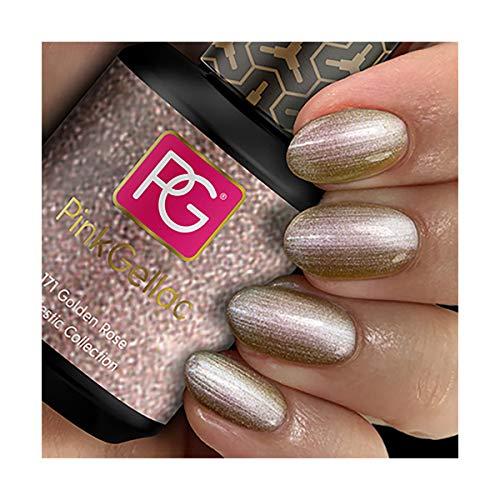 Pink Gellac Gel-Nagellack, Farbe 171 Golden Rose (Roségold), UV-/LED-härtend, 15 ml