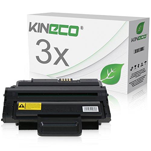 3 Toner kompatibel mit Samsung ML-2850 für Samsung ML-2450, ML-2451, ML-2400 Series, ML-2451N, ML-2850DR, ML-2851ND, ML-2853ND - MLD-2850B/ELS - Schwarz je 5.000 Seiten