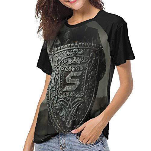 HSJCBHLS Damen Baseball Blusen Skillet Women's Women's Baseball Short Sleeves Comfortable Short Sleeve Sport T-Shirt