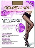 golden lady mysecret 20 collant, 20 den, trasparente (melon 001a), large (taglia produttore:4–l) donna