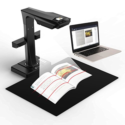 CZUR ET16 Plus Advanced Book&Document Scanner, 2nd Gen Auto-Flatten & Deskew Tech, 16MP Sony Camera, Capture A3, 186 languages OCR, Convert to PDF/Searchable PDF/Word/TIFF/Excel, Run On Windows&Mac OS 3d barcode scanner