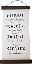 Esoteric Maven Christmas Holiday Wishes Wall Décor Sign | Steel & Wood Tapestry