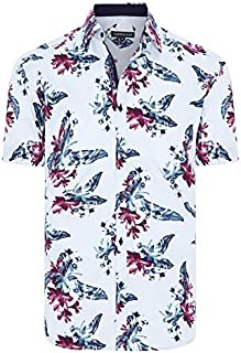 Tarocash Men's Dallas Floral Print Shirt Regular Fit Long Sleeve Sizes XS-5XL for Going Out Smart Occasionwear