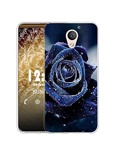 Sunrive Kompatibel mit ZTE Blade A510 Hülle Silikon, Transparent Handyhülle Schutzhülle Etui Hülle (Q Rose 2)+Gratis Universal Eingabestift MEHRWEG
