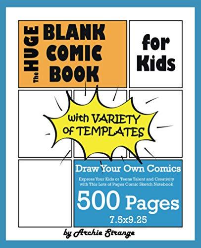 The Huge Blank Comic Book for Ki...