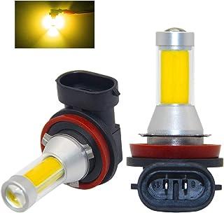 HB3 8000K Bombilla antiniebla CPS amarilla con carcasa de aluminio 12V-24V para camiones Qii lu Faros antiniebla par 9005