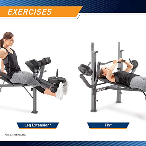 Product Image 6: Marcy Standard Weight Bench with Leg Developer Multifunctional Workout Station for Home Gym Weightlifting and Strength Training MD-389