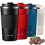Thermos 510ml, Termos caffè piccolo, FEYG Termos con Coperchio-Tazza in Acciaio Inossidabile, 100% a prova di perdite thermos caffe adatto per bevande calde e fredde, bevande, tè, caffè