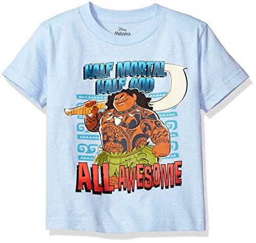 Disney baby boys Moana Short Sleeve T-shirt T Shirt, Light Blue, Large US