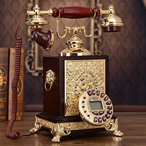 HYY-YY - Teléfono retro antiguo, con cable, diseño de teléfono antiguo