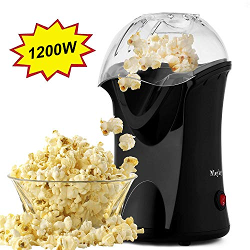 Tinfancy 1200W Hot Air Popcorn Popper No Oil Popcorn Maker with Measuring Cup and Removable Top...