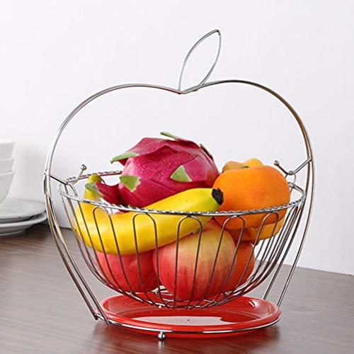 `Star Empty Fruteros de cocina modernos de mesa 1pc Forjado Hierro Metal Fruit Basket Soporte Del Sostenedor De La Fruta Cesta De Almacenamiento Organizador Estilo De Apple Contenedores Forma Cestas D