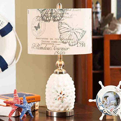 L-YINGZON de Noche y lámparas de Mesa, Lámparas de Mesa, Personalidad Simple Europea Pastoral Creativa Shell Lámparas de Mesa, Sala de Estar Dormitorio de Noche Las Luces de lámparas de Mesa, Moderno