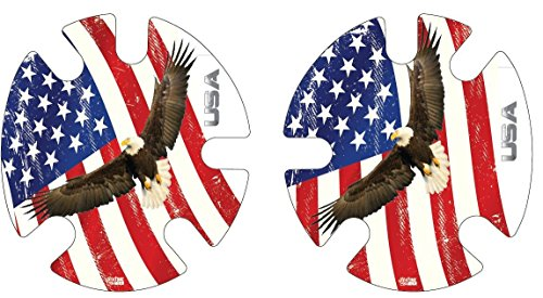 4 Time All American Eagle & Flag Decals, Wraps
