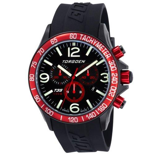 TORGOEN Swiss Herren-Armbanduhr Chronograph Quarz Kunststoff T35304