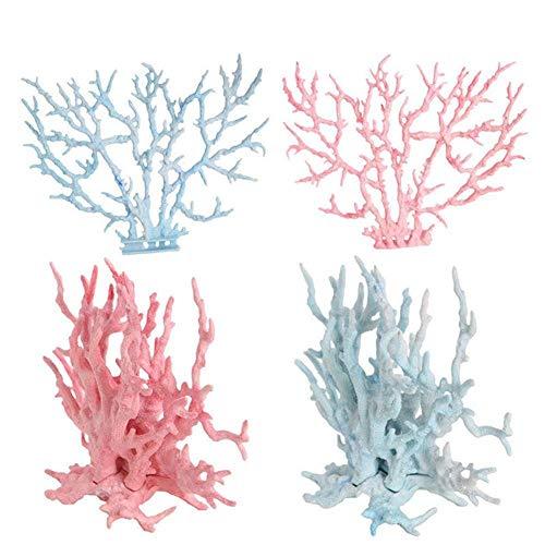 huixu - 2 Piezas de arrecifes Artificiales de Coral, Plantas, Tanque, Paisaje,...